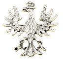 Pin przypinka wpinka znaczek srebrny Orzełek