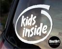 Naklejka na auto KIDS INSIDE dziecko w aucie baby