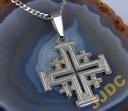 DUŻY SREBRNY Krzyż JEROZOLIMSKI  Srebro925 JUBILER
