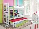 Łóżko łóżka piętrowe - ROLAND III - biały/seledyn