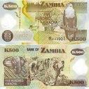 ~ Zambia 500 Kwacha P-43d 2005 POLIMER Słoń UNC