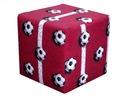 Pufa kostka Piłka Nożna Football kwadrat 40x40