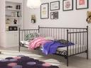 Łóżko metalowe do salonu sypialni 100x200 wzór 14