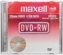 Płyta MAXELL DVD-RW 4,7GB Wielokrotny zapis 10 szt Rodzaj nośnika DVD-RW