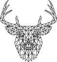 Naklejka na ścianę jeleń poligonal wielokąty 50 cm