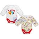Body niemowlęce z długim rękawem 2pak Fisher Price