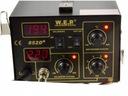 Stacja Lutownicza WEP 852D+ 2w1 2xLED KOMPRESOR ! Temperatura maksymalna 500°C
