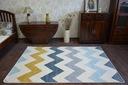DYWAN NR 80x150 ZYGZAK żółty niebieski #A179 Rodzaj z krótkim włosiem