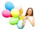 Mix Kolorów -- Balony na Urodziny - 25szt -- 33cm