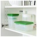 IKEA PRUTA POJEMNIKI PUDEŁKA NA ŻYWNOŚĆ - 17 SZTUK Cechy dodatkowe możliwość mrożenia możliwość używania w kuchence mikrofalowej