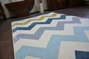 DYWAN NR 80x150 ZYGZAK żółty niebieski #A179 Grubość 13 mm