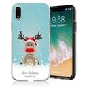 Świąteczne Etui Apple iPhone X /10 Renifer Mikołaj