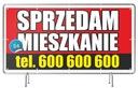 Baner Reklamowy Sprzedam DOM/Działkę/Mieszkanie Waga (z opakowaniem) 1 kg