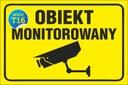 TABLICZKA - Obiekt MONITOROWANY 20x30 PCV 5mm EAN 9876826499134