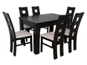 PROMOCJA stół 80/140/180 z 6 krzesłami HIT