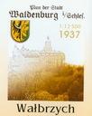 WALDENBURG WAŁBRZYCH 1937 PLAN 1 : 12 500 REPRINT