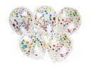 Balony z KONFETTI przeźroczyste GIGA -- 5szt --