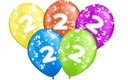 Balony na urodziny 2 DRUGIE PARTY Balon 5 szt.