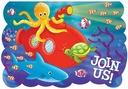 Zaproszenia Podwodny Świat morski rybki żółw 8 szt