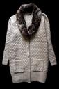 M&Co ciepły długi beżowy sweter z futerkiem_44