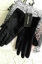 Rękawiczki RESERVED, czarne włosie, r.S, NOWE