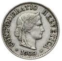Szwajcaraia - moneta - 5 Rappen 1909 - RZADKA !