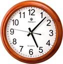 Brązowy Zegar Do Biura PERFECT Nowoczesny Wygląd