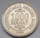 1999r. - Turkmenistan -  1000 Manat