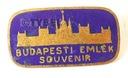 Odznaka Budapest Emlek Souvenir Węgry emalia STARA