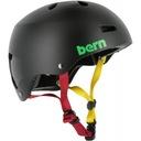 Kask snowboardowy Bern Macon Matte Black Rasta S/M
