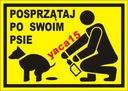 Sprzątaj po psie naklejka tło odblask