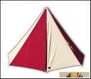 Cone Tent  white / bordeaux