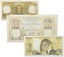 6.ae.Francja, Zest.Banknotów szt.3, St.3/ 4+