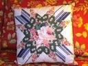 Jak patchwork -poduszka dekoracyjna z wypełnieniem