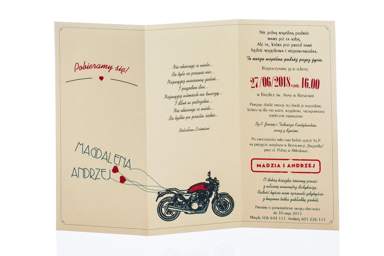 Zaproszenia ślubne Kolekcja Jennifer Motor Z20 5980935700 Allegropl