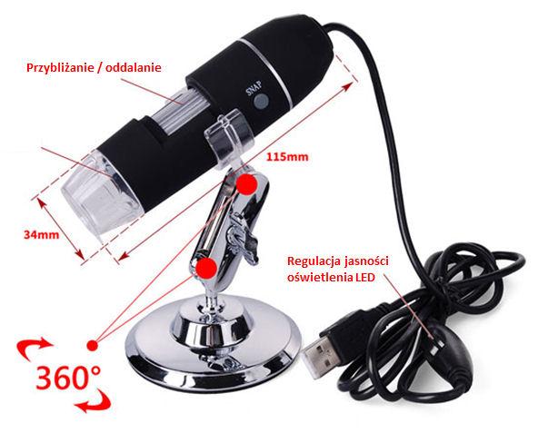 Mikroskop usb 1600x: stereomikroskop mit monitor stativ mit ausleger