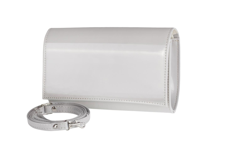 9dd4d2059e795 Opis. W ofercie klasyczna usztywniana torebka kopertówka jasno-szara ...