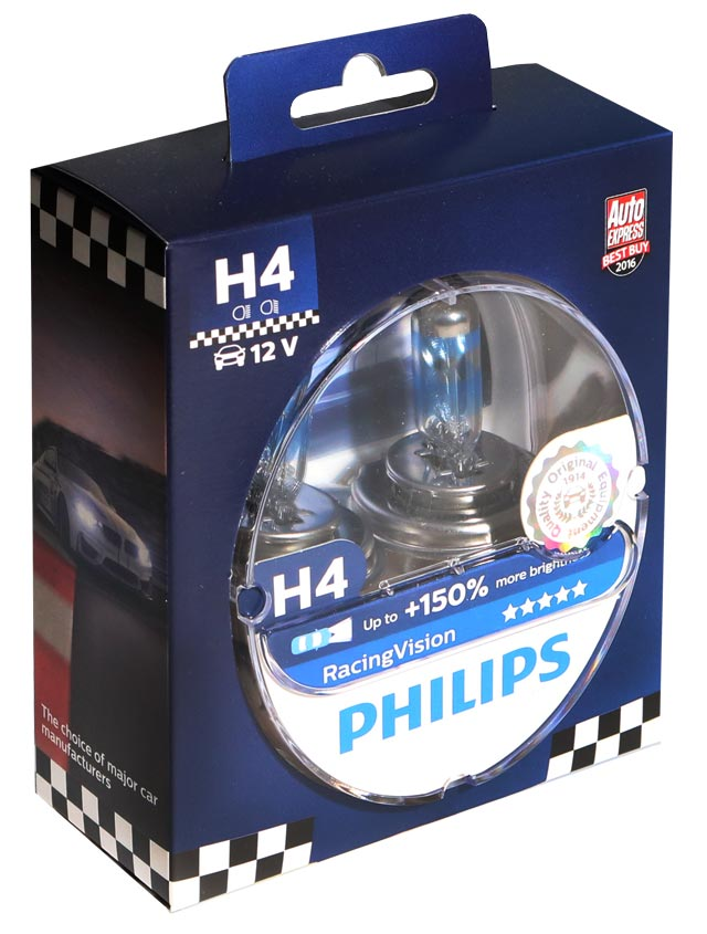 ar wki philips 2xh4 racing vision 150 wiat a. Black Bedroom Furniture Sets. Home Design Ideas