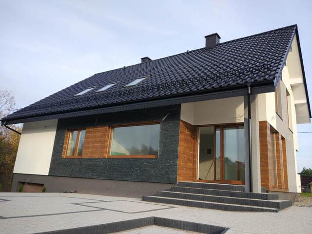 Zupełnie nowe deska elewacyjna imitacja drewna elastyczna panel 6904132114 WK55
