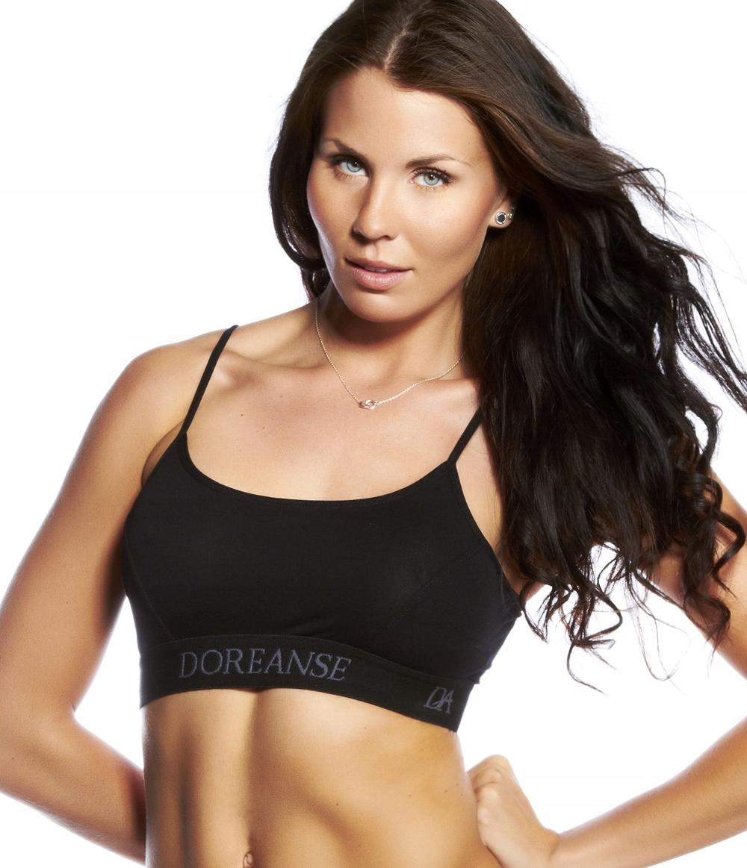 662c7affff9c88 DOREANSE:TOP STANIK sport fitness 14120 :S: CZARNY 7535526669 ...