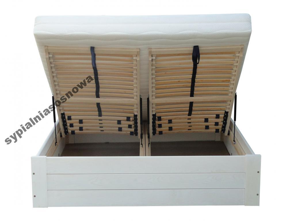 Luna 140x200 łóżko Z Pojemnikiem Lite Drewno