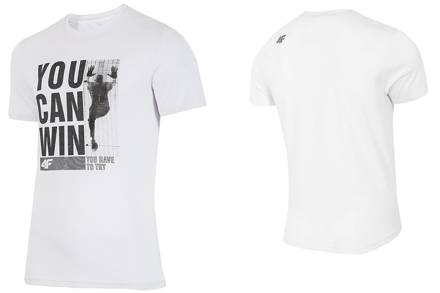 4F T shirt męski koszulka L18 TSM017 L bawełna