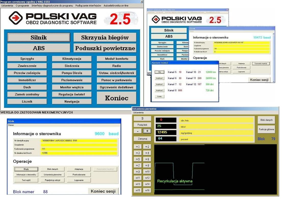 W Mega Program Polski VAG Interfejs KKL OBD2 USB VW skoda 5054096170 IB27
