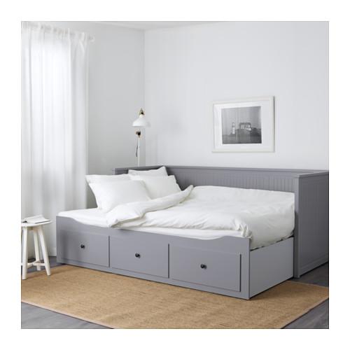 Ikea Hemnes łóżko Rozkładane 2 Materace Szare Sofa