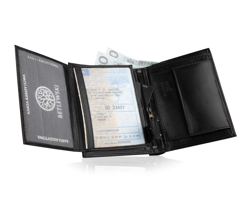 92f56b88d7a64 W centralnej części portfela znajduje się dodatkowy schowek zamykany na  suwak.