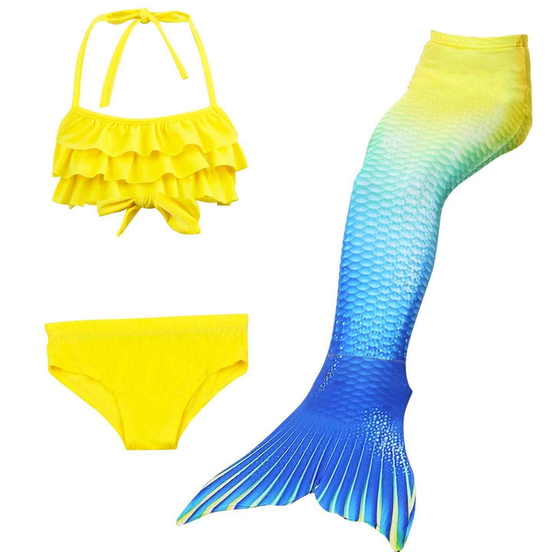 83c8756eb1a665 Opis. Piękny 3 częściowy zestaw do pływania. Klasyczny strój kąpielowy  bikini oraz syreni ogon