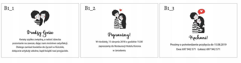 Bileciki Do Zaproszeń Wierszyk Poprawiny B3 7440787920 Allegropl