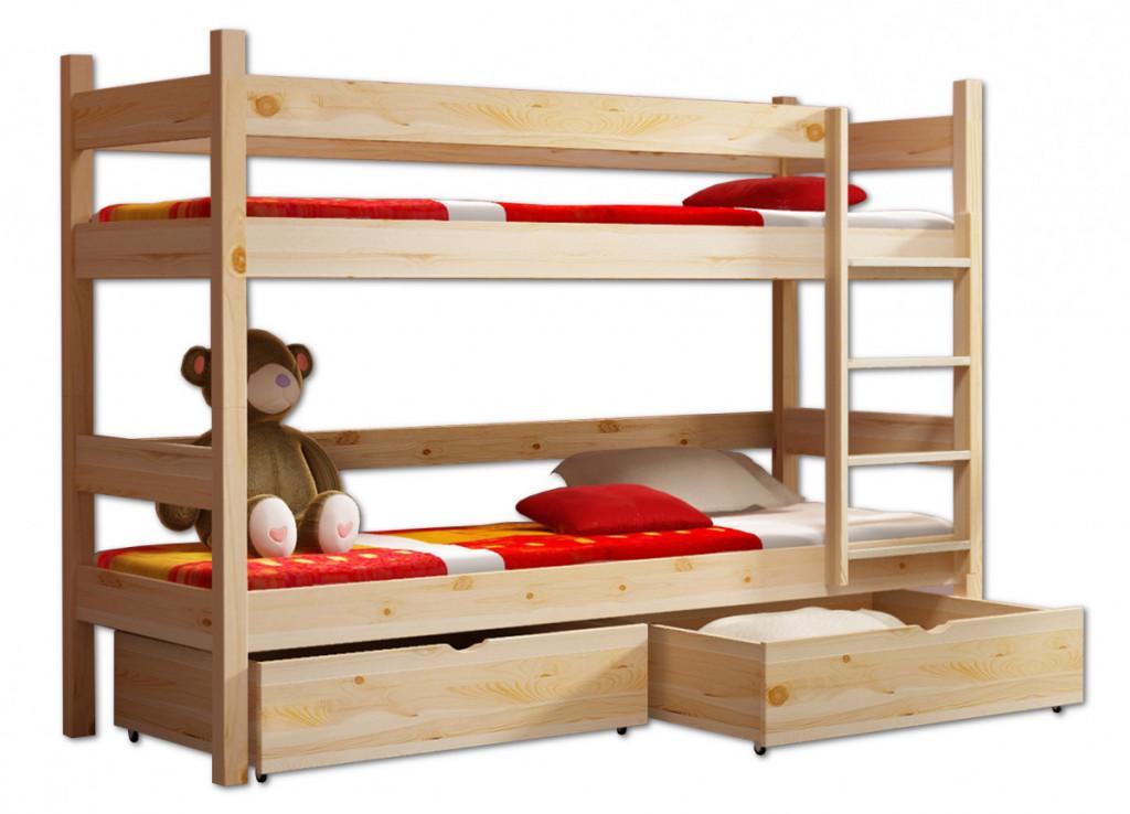 łóżko Piętrowe Miś Materace 190x80 Stelaże 160 Kg
