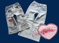 BARBIE cud spodnie 2 pary JEANSY hafty GRATIS 116