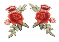 Naszywka komplet 2 szt. róża róże rose NSZ091